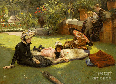 Painting - In Full Sunlight by James Jacques Joseph Tissot