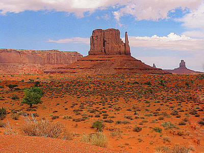 Photograph - In Monument Valley Arizona by Merton Allen