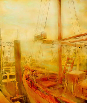 Digital Art - In Port  by Ian  MacDonald