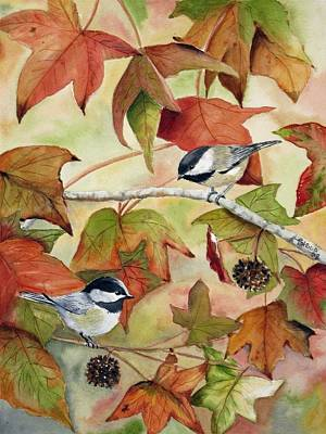Blackcap Painting - In Thanksgiving by Patricia Pushaw