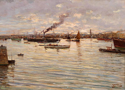 Painting - In The Gulf Of Naples by Giuseppe Giardiello