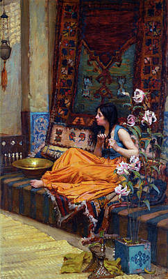 Painting - In The Harem by John William Waterhouse