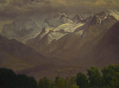 In The High Mountains Art Print by Albert Bierstadt