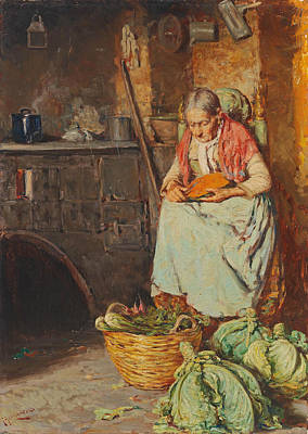 Painting - In The Kitchen by Giuseppe Giardiello