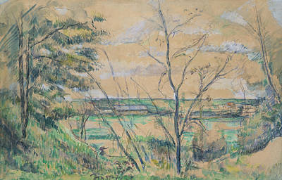Drawing - In The Oise Valley by Paul Cezanne