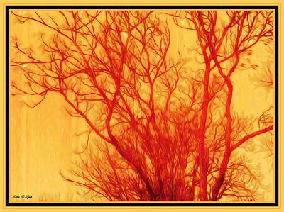 Framed Digital Art Mixed Media - In The Tree Tops by Debra Lynch