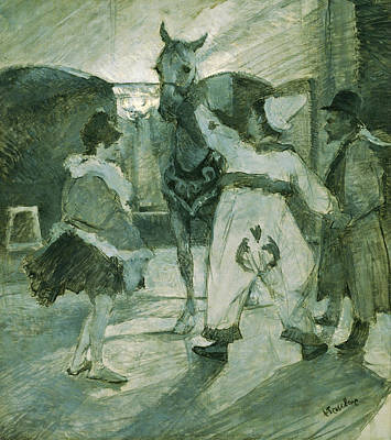 Horse Painting - In The Wings At The Circus by Henri de Toulouse-Lautrec