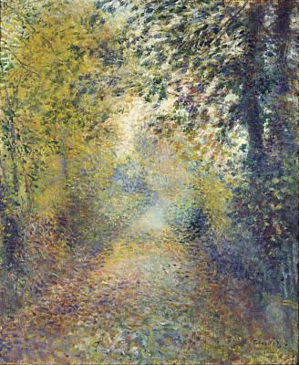 Painting - In The Woods by Auguste Renoir
