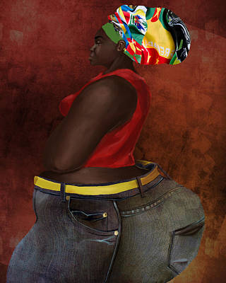 Digital Art - In Them Jeans by David James