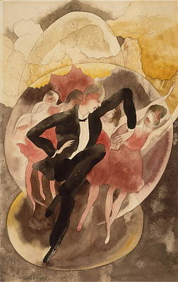 Applause Painting - In Vaudeville Dancer With Chorus by Charles Demuth