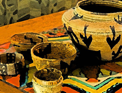 Indian Basket Painting - Indian Baskets 2 by Stephen Anderson