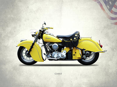 Motorcycle Photograph - Indian Chief 1951 by Mark Rogan