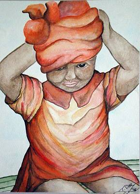 Indian Girl Art Print by Tammera Malicki-Wong