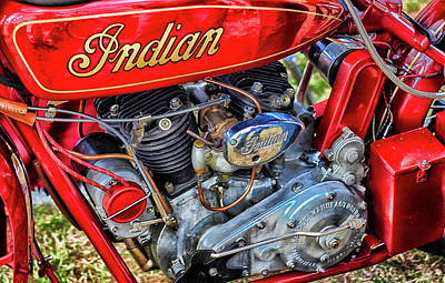 Photograph - Indian Motorcycle by Olaf Pictures