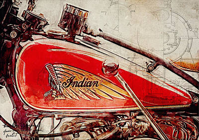 Indian Motorcycle Art Print