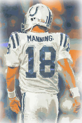 Indianapolis Photograph - Indianapolis Colts Peyton Manning by Joe Hamilton