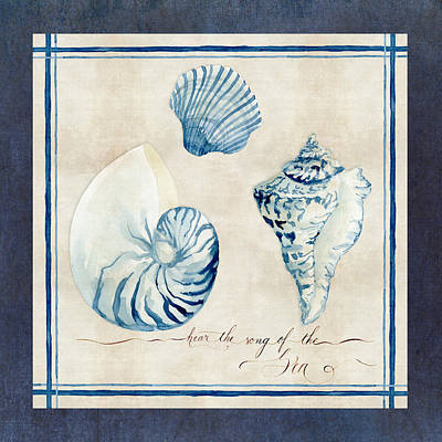 Hand Painted Painting - Indigo Ocean - Song Of The Sea by Audrey Jeanne Roberts