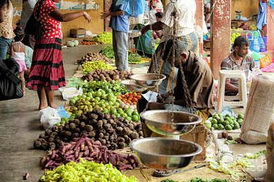 Photograph - Indoor Market In Sri Lanka by Patricia Hofmeester