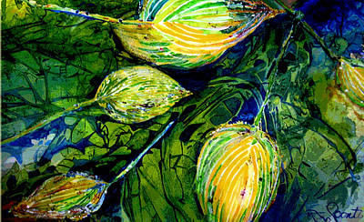 Indriel Blue Hosta Art Print by Mary Sonya  Conti