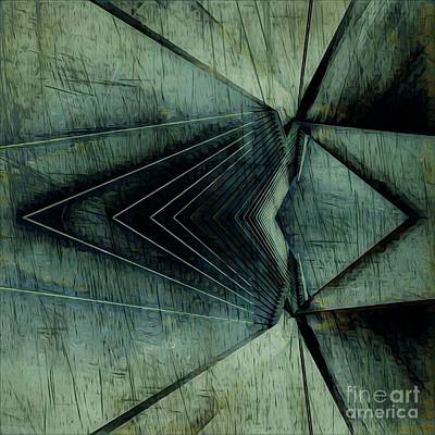 Industrial Bridge Grey Art Print by Lisa Arbitrary