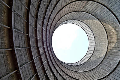 Industrial Decay Inside Cooling Tower Of Electrical Power Plant  Art Print