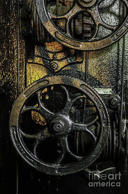 Industrial Wheels Art Print
