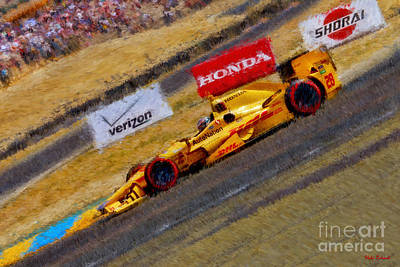 Indy Car's Ryan Hunter-reay Art Print by Blake Richards