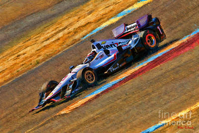 Indy Car's Will Power Art Print by Blake Richards