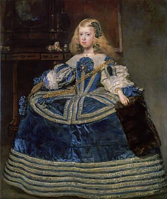 Monarch Painting - Infanta Margarita Teresa In A Blue Dress by Diego Velazquez