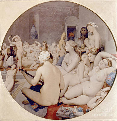 Hygiene Painting - Ingres: Turkish Bath by Granger