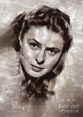 Musician Royalty-Free and Rights-Managed Images - Ingrid Bergman by Mary Bassett by Mary Bassett