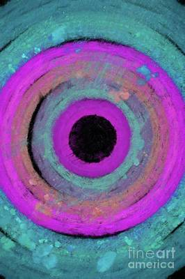 Science Fiction Royalty-Free and Rights-Managed Images - Inner Eye, Abstract Painting by Tito by Tito