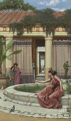 Ancient Roman Painting - Innocent Amusements, 1891 by John William Godward