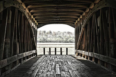 Photograph - Inside The Covered Bridge by Joanne Coyle