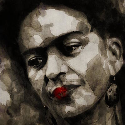 Portrait Mixed Media - Inspiration - Frida Kahlo by Paul Lovering
