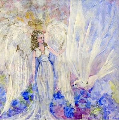 Angel Painting - Inspiration by Rosemary Babikan