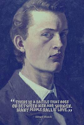 Painting - Inspirational Quotes - Edward Munch 9 by Adam Asar