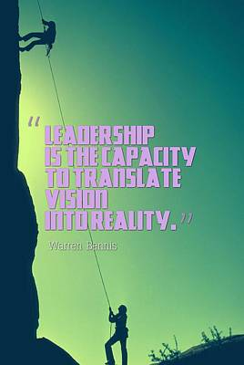 Painting - Inspirational Quotes - Leadership - 2 by Adam Asar