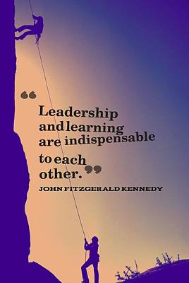 Inspirational Quotes - Leadership - 3 Art Print
