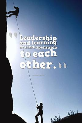 Painting - Inspirational Quotes - Leadership - 3a by Adam Asar