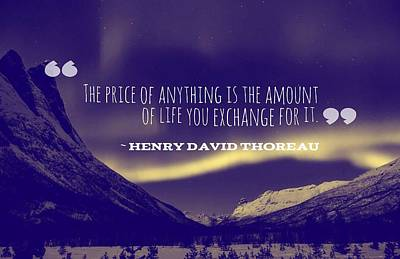 Accomplish Painting - Inspirational Timeless Quotes - Henry David Thoreau A by Celestial Images