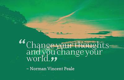 Painting - Inspirational Timeless Quotes - Norman Vincent Peale by Celestial Images