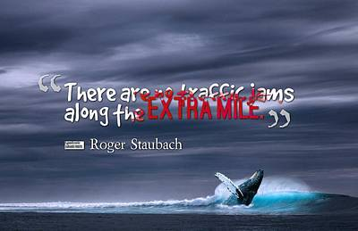 Painting - Inspirational Timeless Quotes - Roger Staubach by Celestial Images