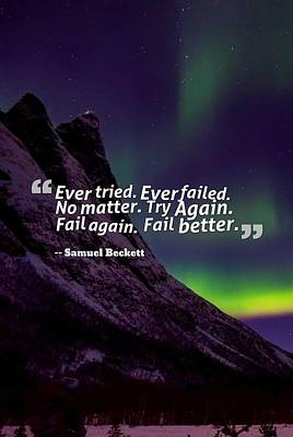 Painting - Inspirational Timeless Quotes - Samuel Beckett 2 by Celestial Images