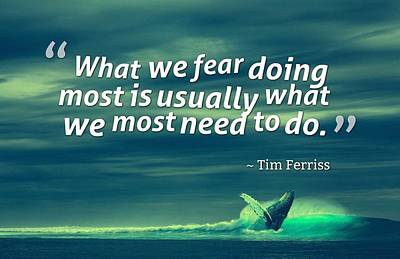 Painting - Inspirational Timeless Quotes - Tim Ferriss by Adam Asar