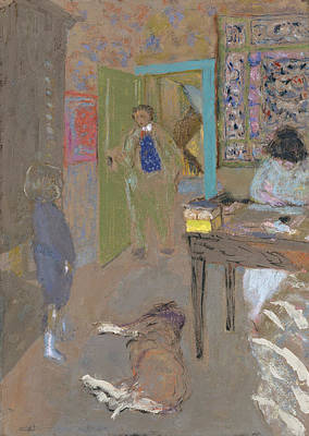 Drawing - Interior At Saint-jacut by Edouard Vuillard