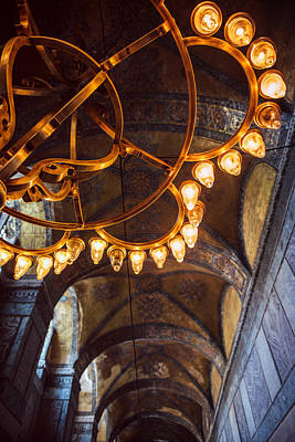 Interior Detail Of Hagia Sophia Istanbul Turkey Art Print