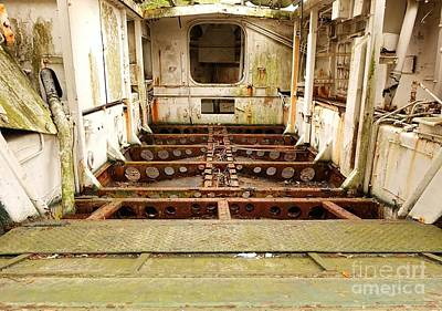 Photograph - Interior Of A Vintage World War Two Landing Craft by Yali Shi