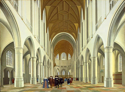 Interior Of Saint Bavo Haarlem Painting - Interior Of Saint Bavo Haarlem by Pieter Jansz Saenredam