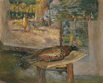 Painting - Interior With Paintings And A Pheasant by Edouard Vuillard